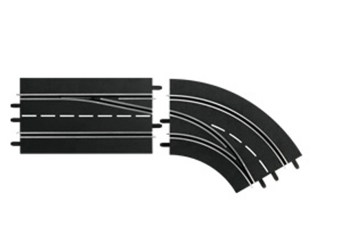 CARRERA - 1:32 Scale Digital Lane Change Curve Right Out to In Slot Car Switch Track (30365) 4007486303652