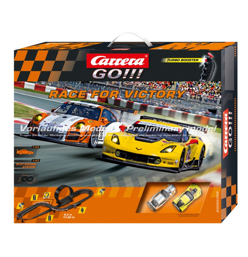 CARRERA - Go!!! Race for Victory 1/43 Scale Slot Car Race Set (62369) 4007486623699