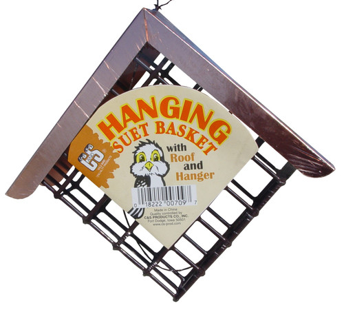 C&S PRODUCTS - Suet Basket with Copper Roof Bird Feeder (CS709) 018222007097