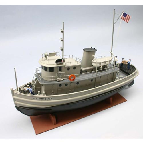 DUMAS - 1/48 Scale ST-74 U.S. Army Tug Boat, Wooden Model Kit (1256) 660141012562