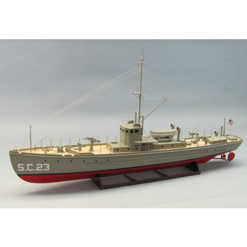 DUMAS - 1/35th Scale SC-I Class Sub-Chaser, Wooden Boat Model Kit (1259) 660141012593