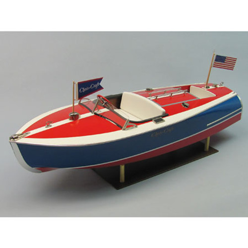 DUMAS - 1/8 Scale 16' Chris-Craft Painted Racer, Wooden Boat Model Kit (1263) 660141012630