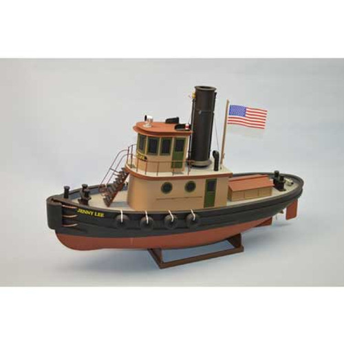 "DUMAS - 1/32 Scale 24"" Jenny Lee Tug, Wooden Boat Model Kit (1268) 660141012685"