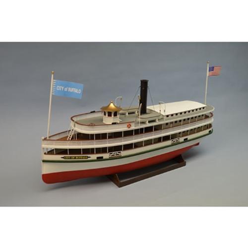 DUMAS - 1/48 Scale City of Buffalo Steamboat, Wooden Boat Model Kit (1270) 660141012708