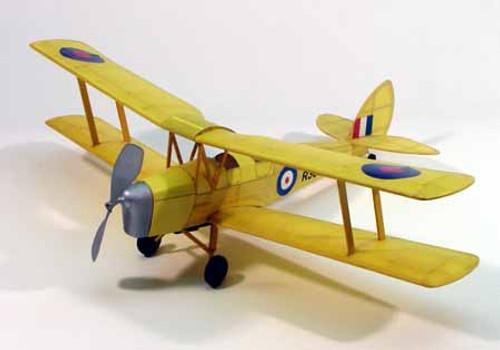 "DUMAS - Tiger Moth,17.5"" Rubber Power, Balsa Wood Airplane Model Kit (208) 660141002082"