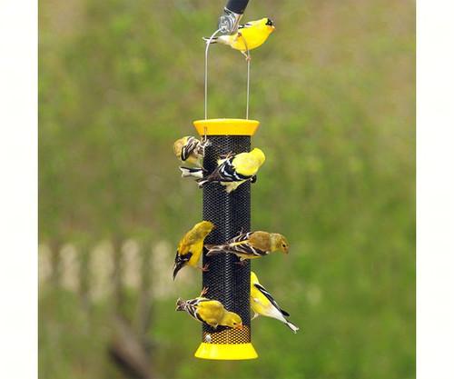 DROLL YANKEES - Metal Finch Sock Thistle Bird Feeder Yellow DYCJM13FSY 021964500597