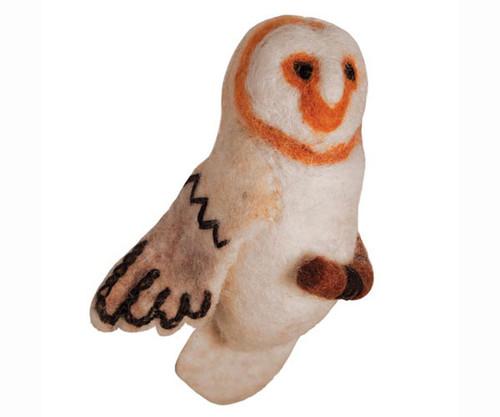 DZI HANDMADE DESIGNS - Barn Owl Woolie Ornament (DZI483030) 845964011118