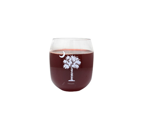 ZEE'S CREATIONS - White Palmetto Tree Ever Drinkware Wine Tumbler (ED1001-PT) 817441017722