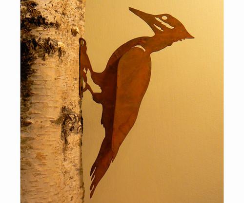 ELEGANT GARDEN DESIGN - Pileated Woodpecker Bird Silhouette Decorative Metal Ornamental Garden Statuary (ELEGANTB732) 857879004314