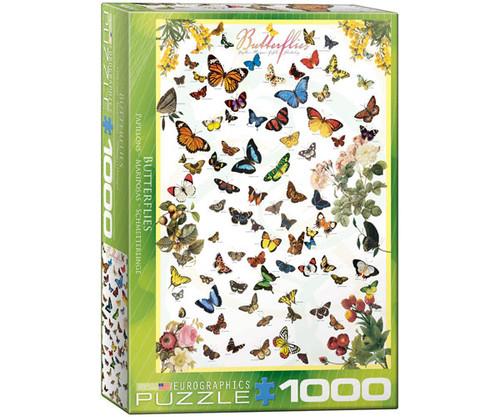 EUROGRAPHICS - Butteflies 1000 Piece Jigsaw Puzzle EURO60000077 628136600774