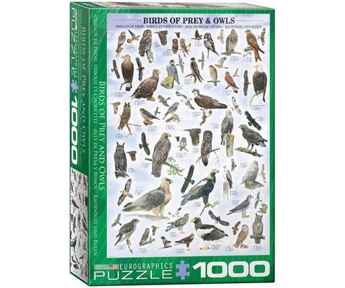 EUROGRAPHICS - Birds of Prey & Owls 1000 Piece Jigsaw Puzzle EURO60000316 628136603164
