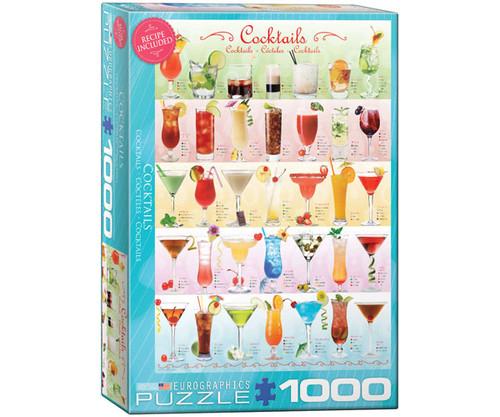 EUROGRAPHICS - Cocktails 1000 Piece Jigsaw Puzzle EURO60000588 628136605885