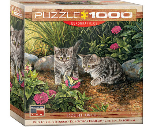 EUROGRAPHICS - Double Trouble Kittens 1000 Piece Jigsaw Puzzle EURO60000796 628136607964