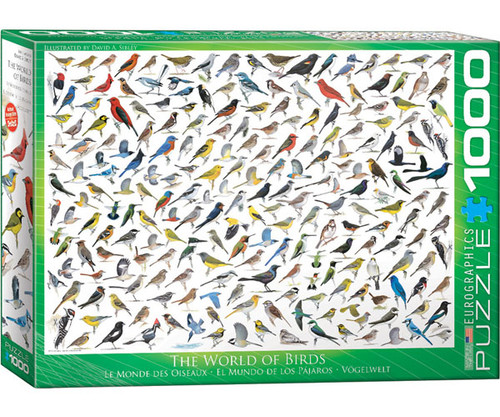 EUROGRAPHICS - Sibley's World of Birds 1000 Piece Jigsaw Puzzle EURO60000821 628136608213