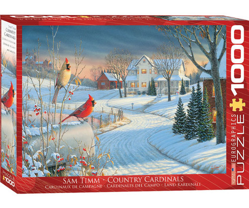 EUROGRAPHICS - Cardinals in Winter 1000 Piece Jigsaw Puzzle EURO60000981 628136609814