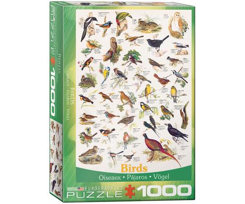 EUROGRAPHICS - Birds of Field and Garden 1000 Piece Jigsaw Puzzle EURO60001259 628136612593