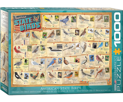 EURO GRAPHICS - State Birds - 1000 Piece Jigsaw Puzzle (EURO60005327) 628136653275