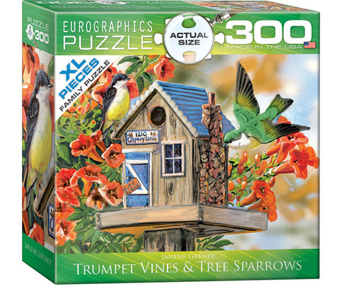 EUROGRAPHICS - Trumpet Vines (BirdHouse) 300 Piece Jigsaw Puzzle (Large Piece Format) EURO83000602 628136806022