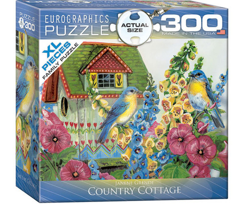 EUROGRAPHICS - Country Cottage (Birdhouse) 300 Piece Jigsaw Puzzle (Large Piece Format) EURO83000603 628136806039