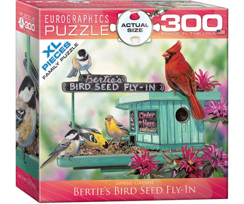 EUROGRAPHICS - Bertie's Bird Seed Feeder 300 Piece Jigsaw Puzzle (Large Piece Format) EURO83000604 628136806046
