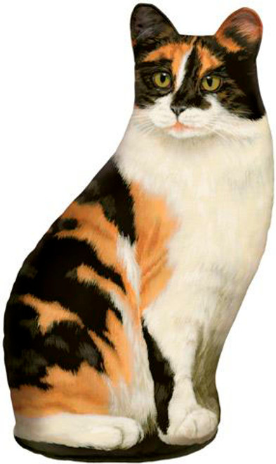FIDDLER'S ELBOW - Calico (Print) Weighted Cat Shaped Pillow Doorstop Weight (FE74) 788353004684