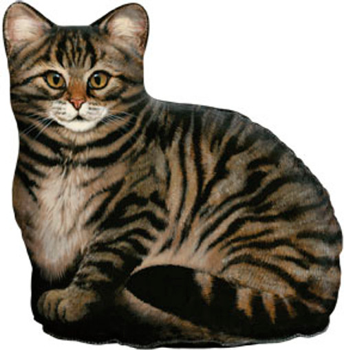 FIDDLER'S ELBOW - Brown Tabby (Print) Weighted Cat Shaped Pillow Doorstop Weight (FE75) 788353004691