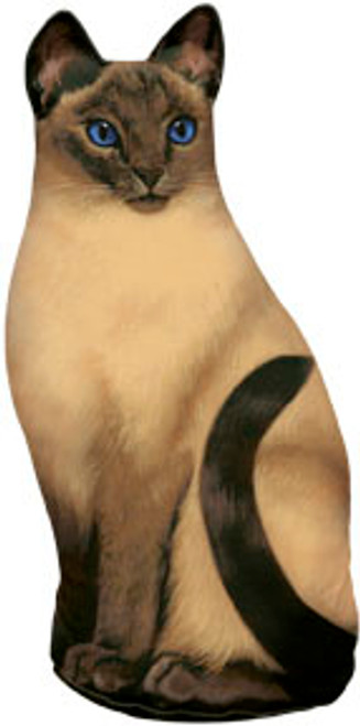 FIDDLER'S ELBOW - Siamese (Print) Weighted Cat Shaped Pillow Doorstop Weight (FE78) 788353004721