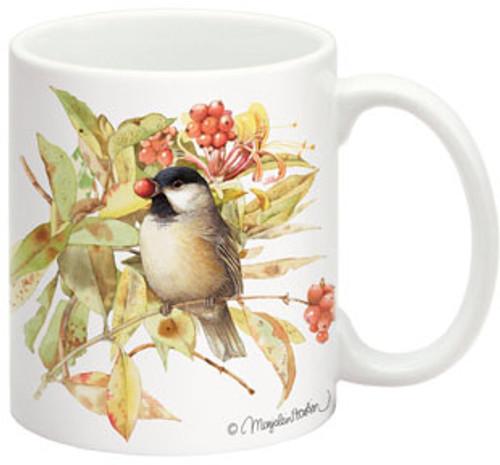 FIDDLER'S ELBOW - Black-Capped Chickadee Ceramic Coffee / Beverage Mug 15 oz. (FEC505) 788353350507