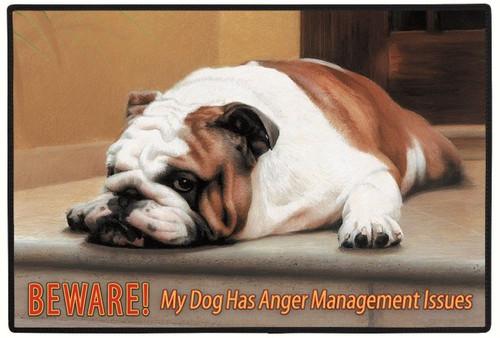 FIDDLER'S ELBOW - Beware! Anger Management Dog Doormat FED18 788353586074