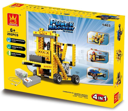 FIREFOX TOYS - 4 in 1 Power Machines Engineering Building Block Kit 296 pcs (WAG-1403) 6945642809625