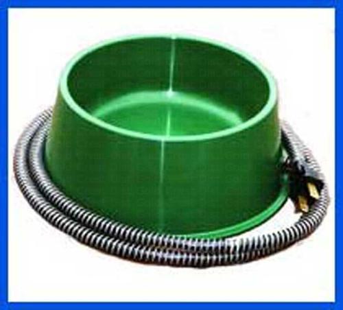 FARM INNOVATORS - One Quart Heated Pet Bowl (Dog Water Dish) (25 Watt) Green (FIQT1) 085045005197