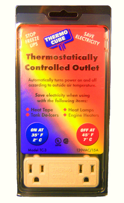FARM INNOVATORS - ThermoCube Outdoor Temperature Automatic Control Outlet (FITC3) 750433200637