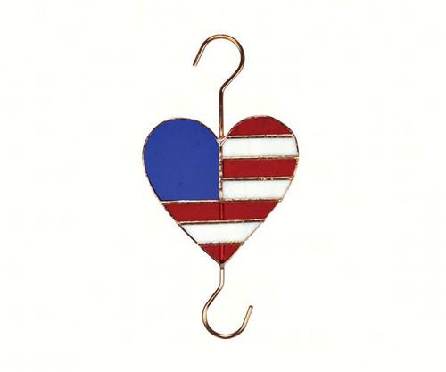 GIFT ESSENTIALS - Patriotic Flag Heart Garden Hook GE176 645194901766