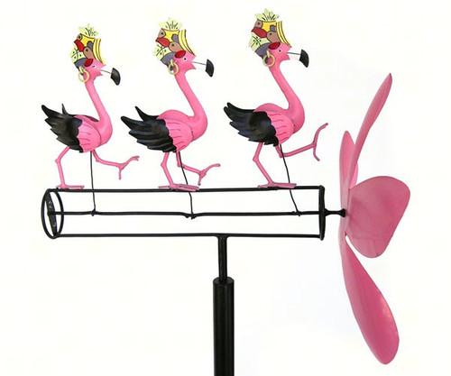 GIFT ESSENTIALS - Dancing Flamingo Whirligig Wind Spinner GEBLUEG110 804414020780