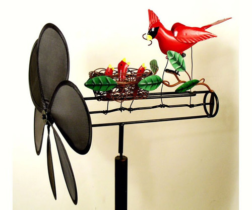 GIFT ESSENTIALS - Cardinal Nest Whirligig Wind Spinner GEBLUEG149 804414019326