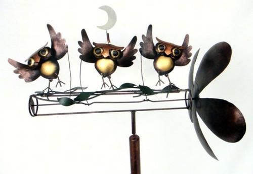 GIFT ESSENTIALS - Dancing Owls Whirligig GEBLUEG471 804414020667