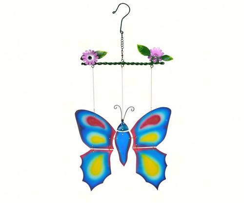 GIFT ESSENTIALS - Blue Butterfly Spinning Sun Catcher GEBLUEG539 804414915390