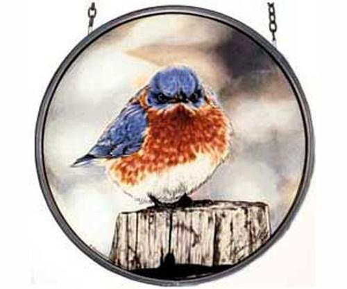 GLASSMASTERS - Mad Bluebird Art Decor Suncatcher (GM1012) 019727638359