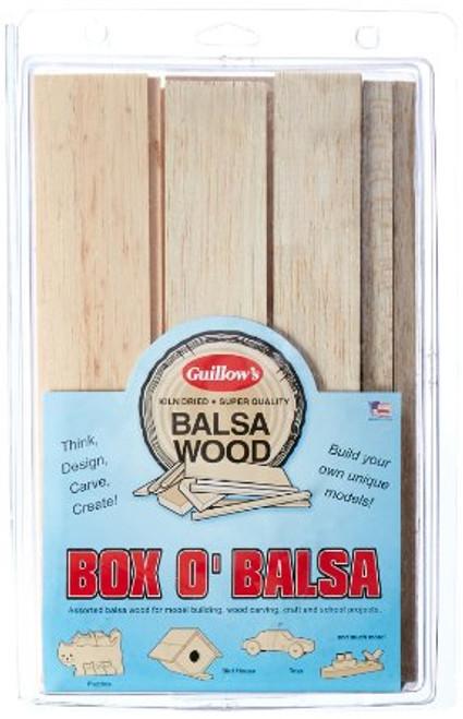 GUILLOWS - Bag-O-Balsa Random Sizes 1lb. Balsa Wood Pack (#14) 072365000148