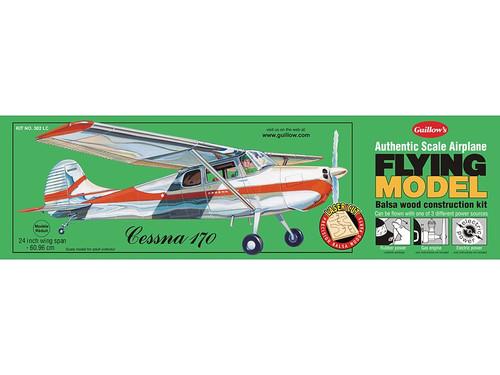 GUILLOWS - Cessna 170 Balsa Wood Airplane Model Kit (302) 072365103023
