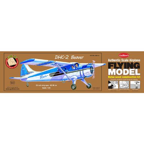 GUILLOWS - DHC-2 Beaver Balsa Wood Airplane Model Kit (305) 072365103054