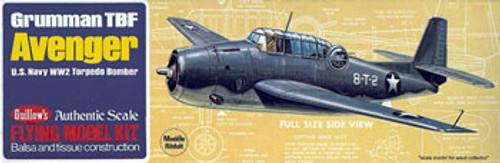 GUILLOWS - Avenger Balsa Wood Airplane Model Kit (509) 072365005099