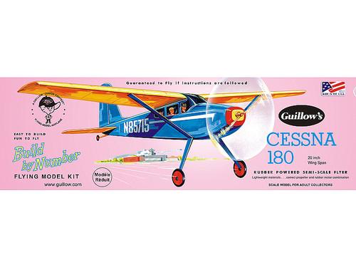 GUILLOWS - Cessna 180 Balsa Wood Airplane Model Kit (601) 072365006010