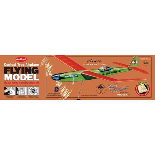 GUILLOWS - Arrow Balsa Wood Airplane Model Kit (702) 072365007024