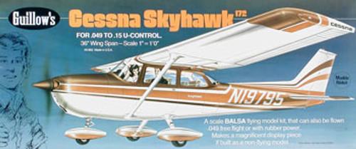 GUILLOWS - Cessna Skyhawk 172 Balsa Wood Airplane Model Kit (802) 072365008021