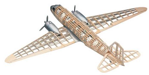 GUILLOWS - Douglas DC-3 Balsa Wood Airplane Model Kit (804) 072365008045