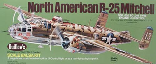 GUILLOWS - B-25 Mitchell Balsa Wood Airplane Model Kit (805) 072365008052
