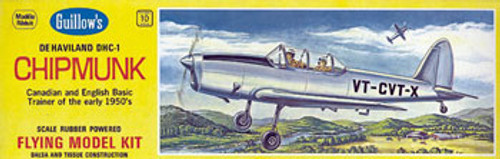 GUILLOWS - deHavilland DHC-1 Chipmunk Balsa Wood Airplane Model Kit (903) 072365009035