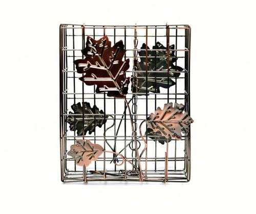 HEATH - Copper Decorative Leaf Large Seed Cake Cage Suet Feeder HEATH2307 085199023078