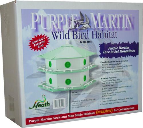 HEATH - Purple Martin Bird House 12 Room - Aluminum (HEATHAH12D) 085199033022